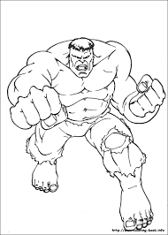 Hulk is very funny and it can make children who watch the film laugh because sometimes he did something stupid. Hulk Coloring Picture