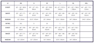 Nitro Snowboards Size Chart Size Chart Nitro Snowboards