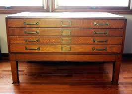 practical flat file drawers vintage wooden flat file cabinet h3699015