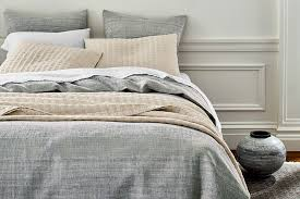 hygge design tips eileen fisher ombre cotton and linen duvet cover
