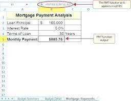 Interest Calculation Spreadsheet Excel Spreadsheet Mortgage Payment Calculator How To Calculate