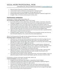 Sample Social Work Resume Worker Awesome Intended For School No