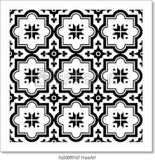 Arabic Pattern Free Art Print Of Arabic Pattern Moroccan Black Tile