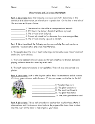 Observation Vs Inference Worksheet Free Worksheets Library ...