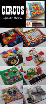 circus quiet book busy book toddler or by annecraftedgifts on etsy