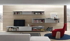 Living Room Media Cabinet Interior Wall Unit Furniture Living Room White Painted Storage