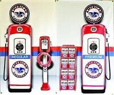 tire inflator gas station. american gas pumps station banner set air oil rack sign 2-3\u0027 tire inflator gas station