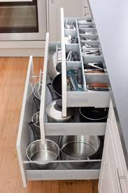 Keep your kitchen in order with our pot drawers and cutlery drawers! Visit  kaboodle.