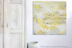 giclee print art yellow grey abstract painting modern coastal canvas art white gold wall decor  on coastal life canvas wall art with canvas art print yellow grey abstract painting modern coastal gold