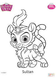 Small Picture Palace Pets Sultan coloring page Free Printable Coloring Pages