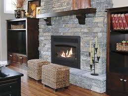 Stone Gas Fireplace To Make Modern Home Warm