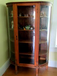 29 curio cabinets antique antique oak side by side secretary curio cabinet curved glass door associazionelenuvole org