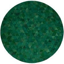 art hide emerald trilogia round cow hide rug