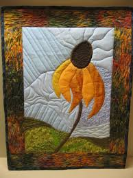 Looking for quilting project inspiration? Check out Coneflower ... & Looking for quilting project inspiration? Check out Coneflower Pictorial  Quilt by member a1angiem. - via @Craftsy | SUNFLOWER QUILTS | Pinterest |  Applique ... Adamdwight.com