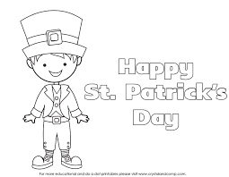 St Patricks Day Coloring Kid Color Pages For St Patricks Day