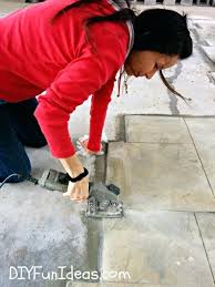 how to lay tile on concrete stamped concrete tile driveway can you lay tile over concrete