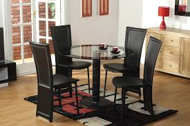 Table With Hidden Chairs Glass Table 4 Chairs Tbs Discount Furniture A Large Selection