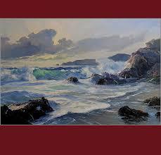 bennett bradbury ocean waves california artist oil painting vander molen fine art