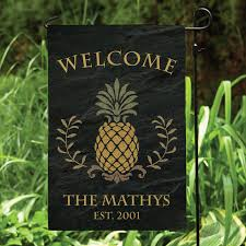 home interior guaranteed outdoor decorative flags pineapple welcome personalized garden flag planet from outdoor decorative
