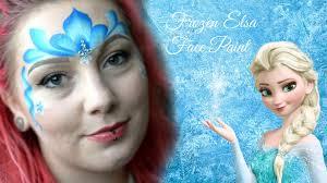 easy quick fast elsa frozen face paint mell bellefontaine mua