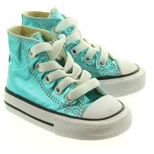 converse for kids. converse kids metallic hi top in cyan main image. loading zoom · for s