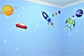 space mural space themed children s wall murals