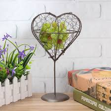 tree heart metal wall flower pot basket french provincial metal small hanging set wall decor