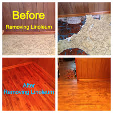 Remove The Linoleum Covering Completely From The Floor. Cut Sections And  Pull The Flooring Off. If The Linoleum Has Been Glued ...