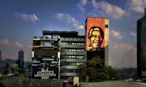 Nelson Mandela Mural by Shepard Fairey