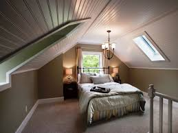 Bedroom:Beautiful Low Vaulted Ceiling Plank For Attic Bedroom Design Fixed  Skylight Roof Windows Over