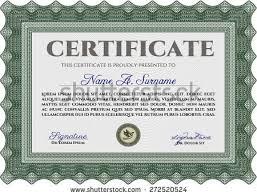 green certificate diploma template complex border stock vector  green certificate or diploma template complex border design and sample text