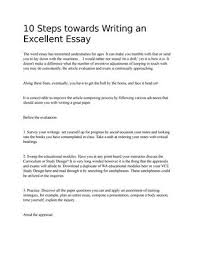 10 Steps To Writing An Essay 10 Steps Towards Writing An Excellent Essay By Elenasmith