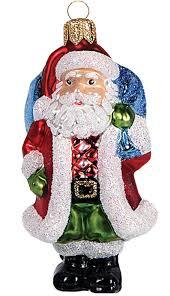 Christbaumschmuck Figuren Weihnachtsmänner Glas