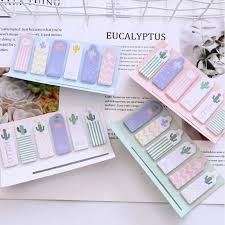 <b>1pack</b>/<b>lot</b> Kawaii Mini <b>Memo</b> Candy colored Cactus Indicates ...