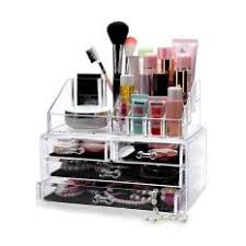 4 drawer 3 tier layers clear acrylic cosmetic rack organizer jewelry make up case