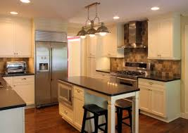Elegant Platinum Kitchens: Kitchens. Island With Seating In Narrow Kitchen. Amazing Pictures