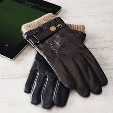 men s leather touch screen gloves