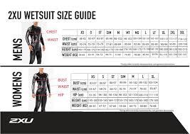 2xu Tri Shorts Size Chart P 1 Propel Wetsuit Women 2xu Ww4994c