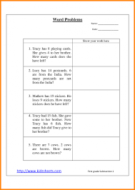 1st Gradeh Word Problems Worksheets Common Core Problem Solving ...