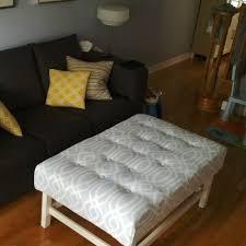 DIY IKEA coffee table turned ottoman. hemnes_ottoman3