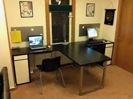 t shaped office desk. T Shaped Desk For Two People Home Office C