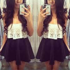 Cute outfits tumblr crop top Summer Outfit Pretty Tumblr Lace Crop Top Skater Skirt Black White Floral Blouse Cute Girl Tank Top Crop Pinterest Pretty Tumblr Lace Crop Top Skater Skirt Black White Floral