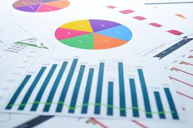 Charts Graphs Paper Financial And Business Concept Stock