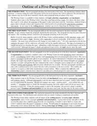 outline for a paragraph essay essay outline writing  5 paragraph ged essay sample outline of a five paragraph essay the introduction the