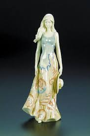 Oceania Porcelain Lady Figurine Large Benaya Ceramic Art