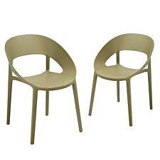 stackable plastic chairs. Adeco Patio Outdoor Plastic Dining Stackable Chairs, Dark Green, Set Of 2 Chairs G