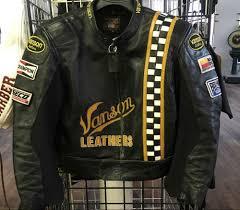 vanson leathers motorcycle jacket supersport