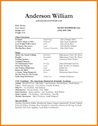 Nice Theatrical Resume Template With 10 Acting Resume Templates