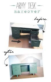 vintage metal office furniture. Vintage Tanker Desk Makeover - Before And After Metal Office Furniture V