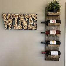 rustic wine rack spice rack wall